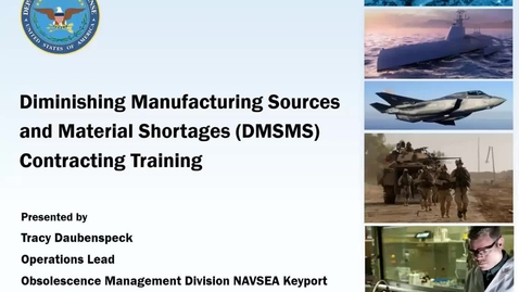 Thumbnail for entry DMSMS: Best Practices for Contracting 2.26.20