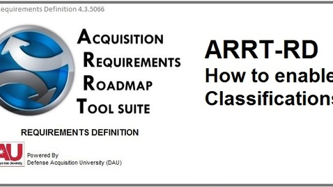 Thumbnail for entry ARRT-RD_Classifications