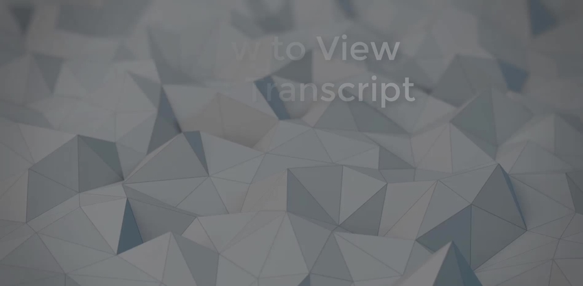 Video thumbnail for How to View Your Transcript