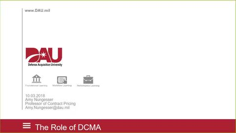 Thumbnail for entry Role of DCMA: DAU LandL FY19-20181003