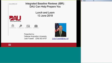 Thumbnail for entry Integrated Baseline Review: DAU Can Help You!
