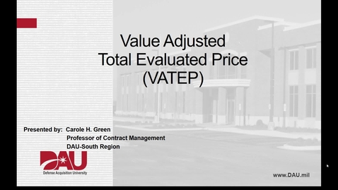 Thumbnail for entry Value Adjusted Total Evaluated Price Video
