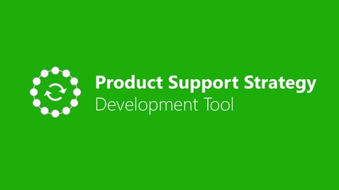 Thumbnail for entry Product Support Strategy Development Tool