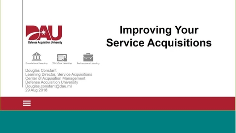 Thumbnail for entry Improving Your Services Acquisition L&L Aug 29 2018