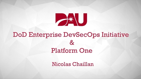 Thumbnail for entry Nicolas Chaillan Presents DevSecOps for DoD (DSOD)