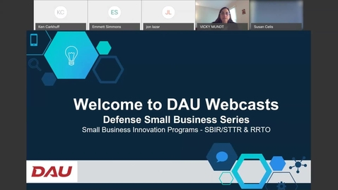 Thumbnail for entry Defense Small Business Series Small Business Innovation Programs 5.19.21