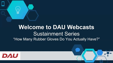 Thumbnail for entry Sustainment Series How Many Rubber Gloves Do You Actually Have 12.8.20