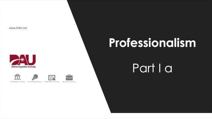 2.0 Professionalism Part 1a