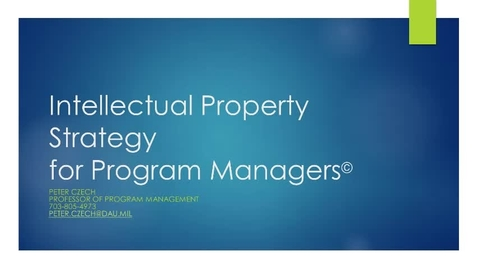 Thumbnail for entry Intellectual Property Strategy