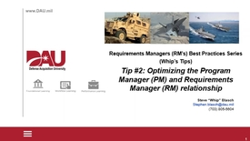 Thumbnail for entry Requirements Managers Best Practices Tip#2 Optimizing the RM PM Relationship