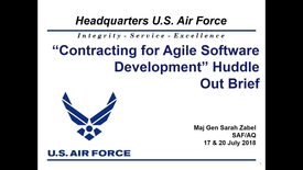 Thumbnail for entry USAF Agile Acquisition Contracting Outbrief Maj Gen Zabel v180723