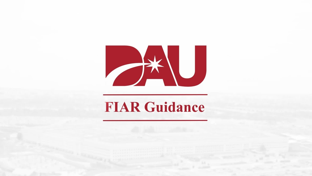 Financial Improvement and Audit Readiness (FIAR) Overview