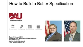 Thumbnail for entry How to Build a Better Specification