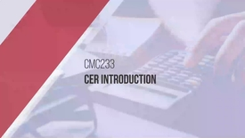 Thumbnail for entry CER Video 1 (Edit CCM)