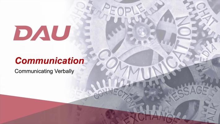6.0 Communicating Verbally
