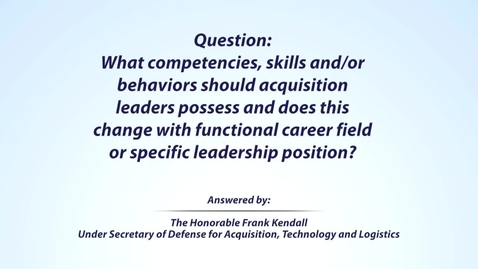 Thumbnail for entry Kendall Leadership Question 5 of 5