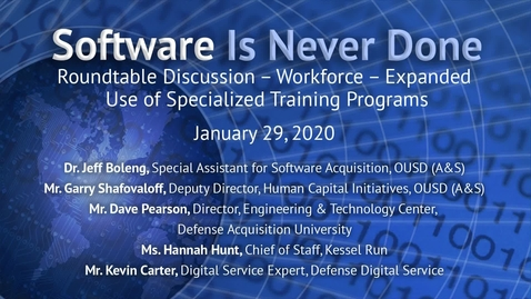 Thumbnail for entry Adaptive Acquisition Framework: Software Workforce Training and Development