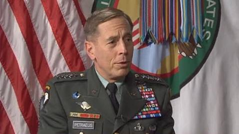 Thumbnail for entry General Petraeus Interview with DAU President Anderson