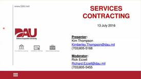 Thumbnail for entry Lunch-N-Learn: Services Contracting 2016