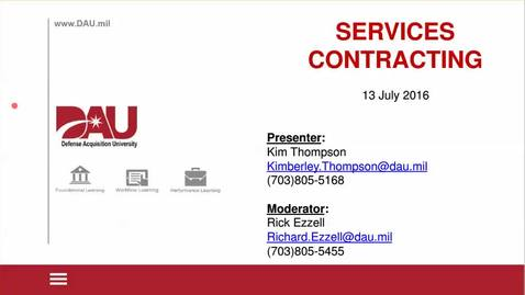 Lunch-N-Learn: Services Contracting 2016