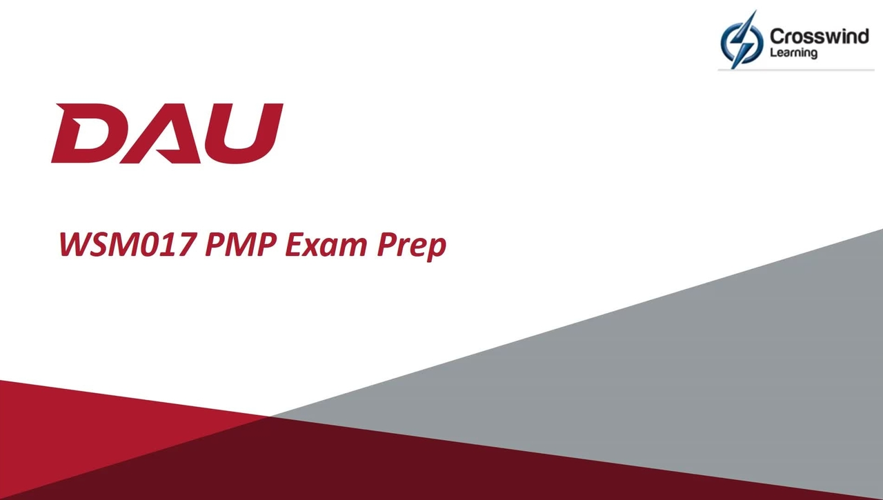 """PMP Exam Prep Course (WSM017) """"Welcome and Intro Video"""""""