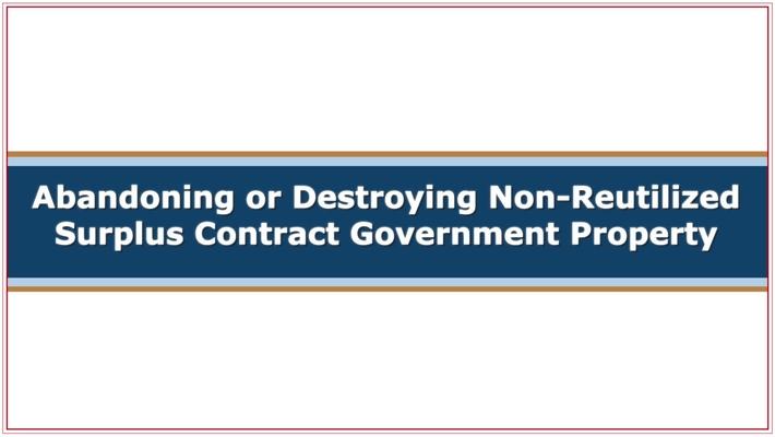 CMC251 Abandoning or Destroying Property