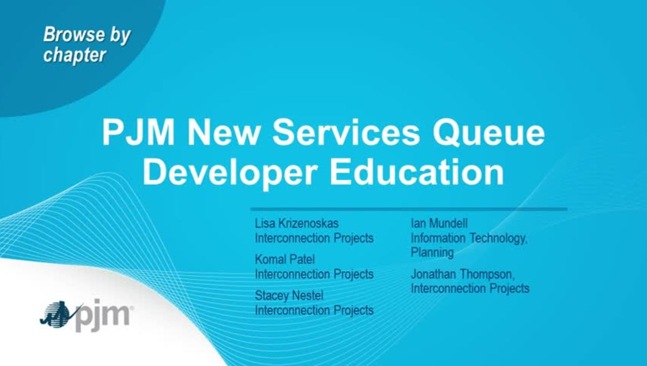 PJM New Service Queue Developer Education
