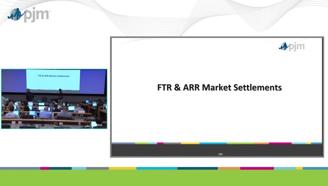 Workshop on PJM ARR & FTR Market- Part 9 - Market Settlements