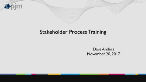 Thumbnail for entry Stakeholder Process Training