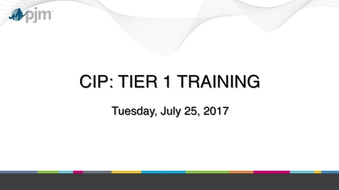 Thumbnail for entry CIP: Tier 1 Training