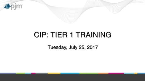 CIP: Tier 1 Training