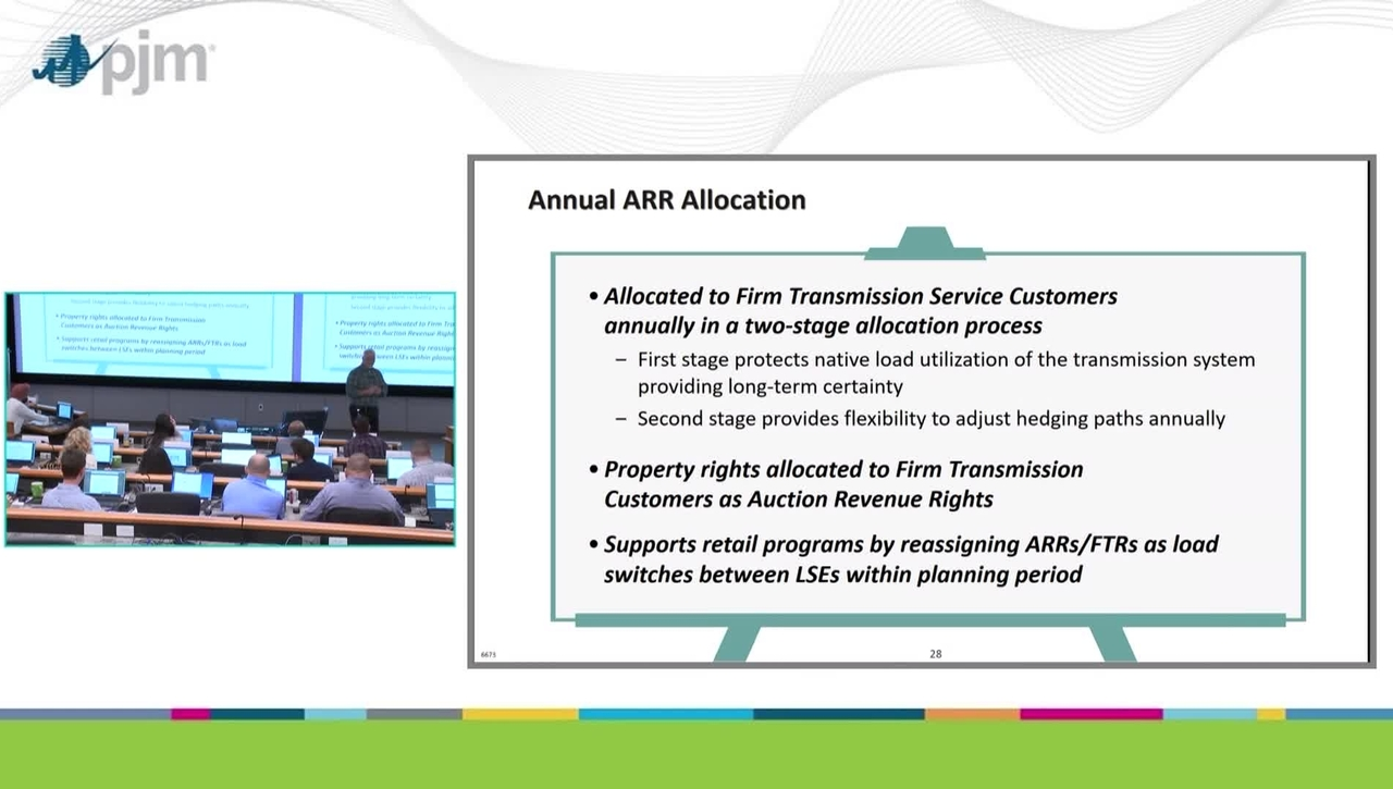 Workshop on PJM ARR & FTR Market- Part 3 - Overview of ARRs