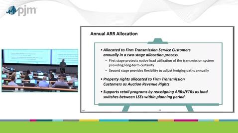 Thumbnail for entry Workshop on PJM ARR & FTR Market- Part 3 - Overview of ARRs