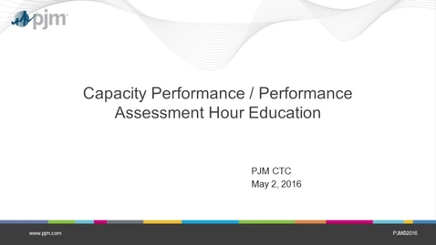 Thumbnail for entry Capacity Performance / Performance Assessment Hour Education