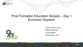 Thumbnail for entry Price Formation Education Session: Day 1 - Economic Dispatch