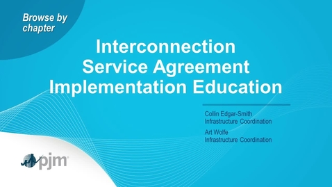Thumbnail for entry Planning Committee Special Session: Interconnection Service Agreement (ISA) Education