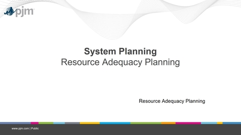 Thumbnail for entry Planning 201 - Resource Adequacy Planning