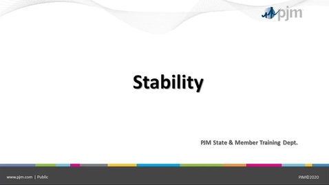 Thumbnail for entry State & Member Training - Stability