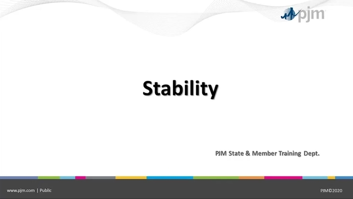 State & Member Training - Stability