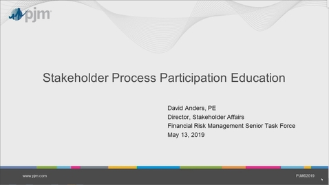 Thumbnail for entry Stakeholder Process Participation Education