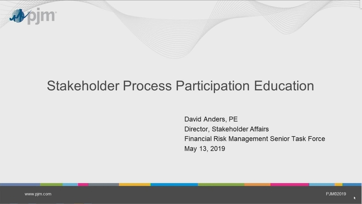 Stakeholder Process Participation Education