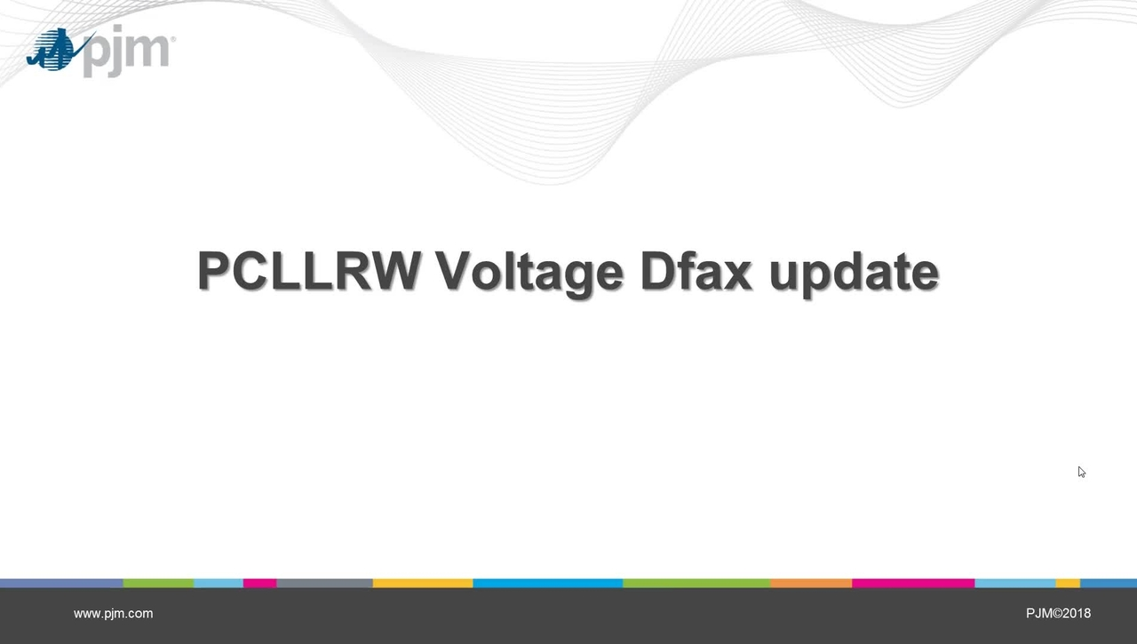 Post Contingency Local Load Relief Warning (PCLLRW) Voltage Dfax Update