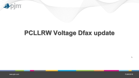 Thumbnail for entry Post Contingency Local Load Relief Warning (PCLLRW) Voltage Dfax Update