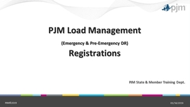 Thumbnail for entry Load Management Emergency & Pre-Emergnecy Demand Response Registrations