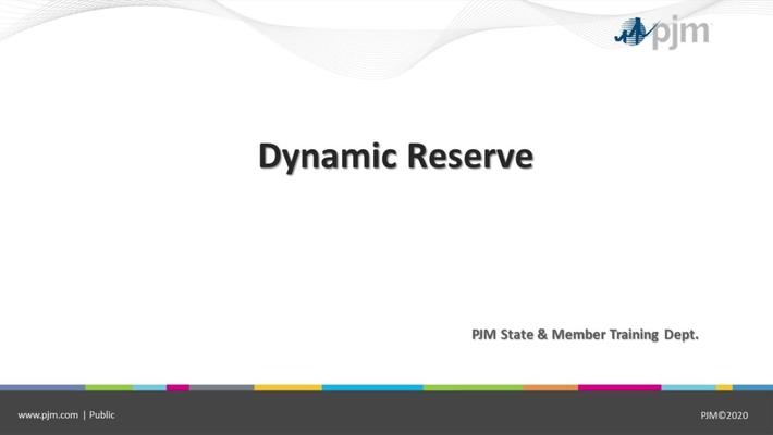 Dynamic Reserves Presentation - April 7 2021