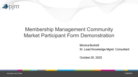 Thumbnail for entry Tech Change Forum: Membership Management Community Market Participation Form Demonstration