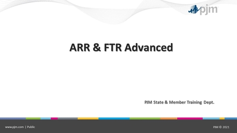 Thumbnail for entry ARR/FTR Advanced 2021