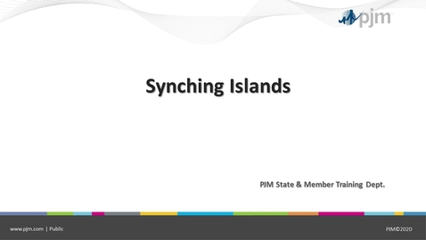 Thumbnail for entry Starting & Synchronizing Islands