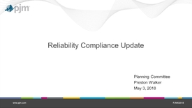 Thumbnail for entry May 2018 - Reliability Compliance Update
