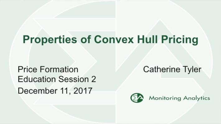 Monitoring Analytics - Properties of Convex Hull Pricing